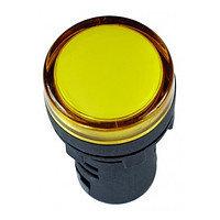 Индикатор AL-22TE Ø22мм (желтый неон)   (300)