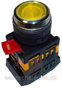 Кнопка ABLFS-22 (желтый неон)   *** (200)