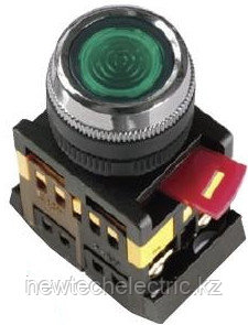 Кнопка ABLFS-22 (зеленый неон)   (200)
