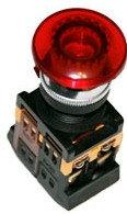 Кнопка AELA-22 (грибок красный неон)   (200)