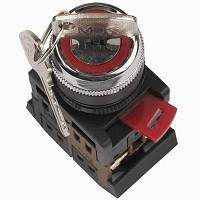 Переключатель AKS-22  (черный с ключом на 2 фикс.полож.)   (200)