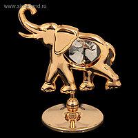 Сувенир «Слон», 3×6×5 см, с кристаллами Сваровски