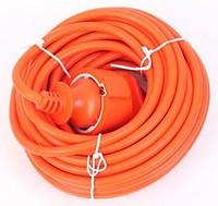 Шнур УШ-01РВ (Оранж с кругл  вилк и розеткой 5м)