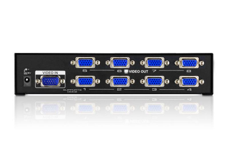 Сплиттер (разветвитель) VGA 8 выходов 200MHz VGA-2008