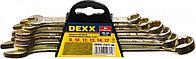 Набор комбинированных гаечных ключей DEXX желтый цинк 8-17мм 6шт 27017-H6
