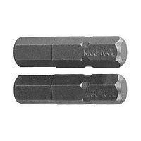 """Биты KRAFTOOL """"ЕХPERT"""" торсионные кованые, обточенные, Cr-Mo сталь, тип хвостовика C 1/4"""", HEX6, 25мм, 2шт"""