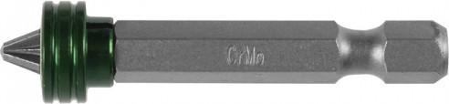 """Биты KRAFTOOL """"ЕХPERT"""", с магнитным держателем-ограничителем, E 1/4"""", PZ2, 50 мм, 1 шт. в блистере"""