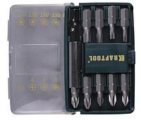 """Набор KRAFTOOL """"MINI - 2"""" Биты с магнитным адаптером в мини бит-боксе, 10 предметов"""