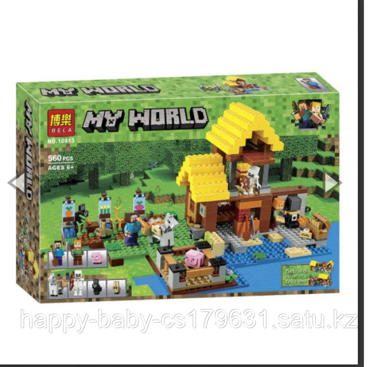 Конструктор bela Minecraft 10813 «фермерский коттедж»