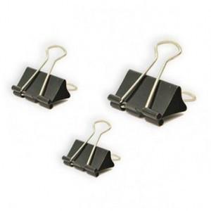 Зажимы для бумаг DELI, 19 мм, черные, (12 шт.)