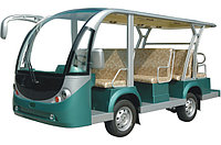 Электроавтобус открытого типа 11-ти местный зеленого цвета EG6118KA, фото 1