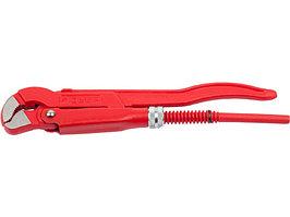 """Ключ трубный рычажный ЗУБР, тип """"S"""", изогнутые губки для труднодоступных мест, цельнокованный, Сr-V,  № 0, 1/2"""