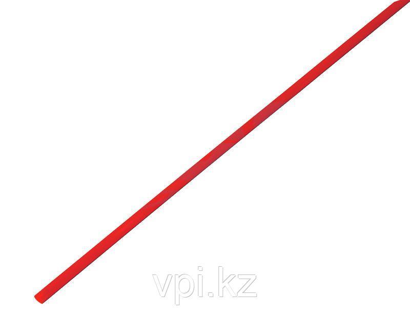 Термоусадочная трубка - красная 1.5/0.75мм 1м REXANT