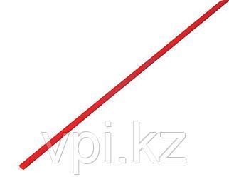 Термоусадочная трубка - красная 2.5/1.25мм 1м REXANT