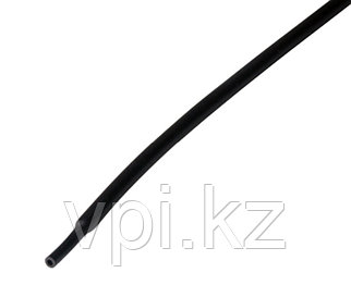 Термоусадочная трубка - черная 3/1.5мм 1м REXANT