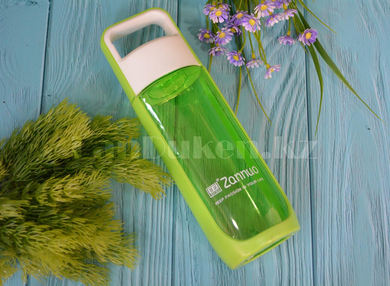 Бутылочка для воды ZANNUO 580 мл, емкость для воды зеленая - фото 1