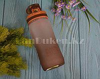 Бутылочка для воды Plastic Bottle 500 мл емкость для воды Коричневый