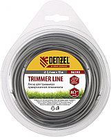 Леска для триммера армированная алюминием ,X-Pro, круглая, 2,0мм х 15м, Denzel
