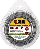 Леска для триммера армированная алюминием, X-Pro, круглая, 2,4мм х 15м, Denzel