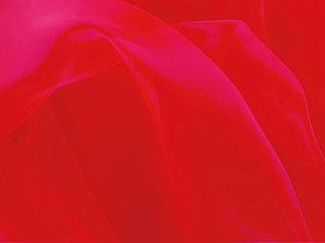 Ткань CRYSTAL ORGANZA FLUORESCENT RED