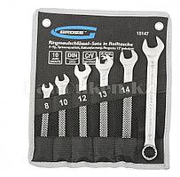 Набор ключей комбинированных 8-17 мм, 6 шт., CrV, холодный штамп 15147 (002)