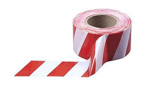 Сигнальная лента бело-красная 60*125