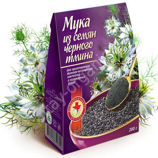 Мука из семян черного тмина, 200 гр