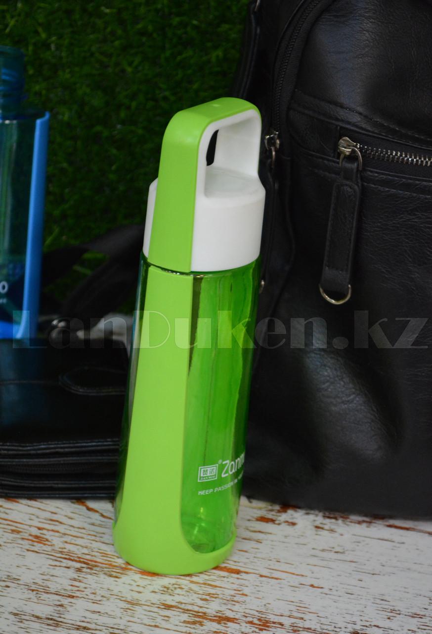 Бутылочка для воды ZANNUO 580 мл, емкость для воды зеленая - фото 3
