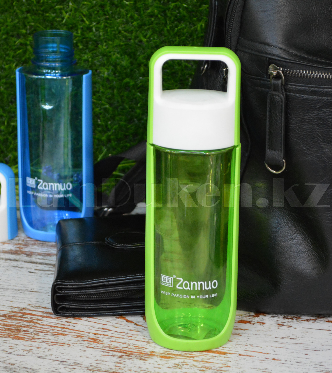 Бутылочка для воды ZANNUO 580 мл, емкость для воды зеленая - фото 4