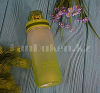 Бутылочка для воды Plastic Bottle 500 мл емкость для воды Зеленый