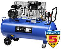 """Воздушный компрессор ЗУБР 440 литров в минуту, 100 литров ресивер, """"Профессионал"""" ЗКПМ-440-100-Р-2.2"""
