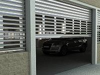 Стальные рулонные ворота с внутривальным электроприводом из профиля RHS75, RHS75P, фото 1
