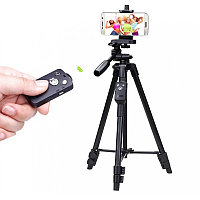 Штатив Yunteng 5208 для смартфона, планшета и фотокамеры с Bluetooth-кнопкой (43-125 см), фото 1