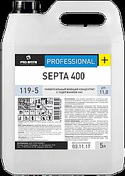 Универсальный моющий концентрат с содержанием ЧАС SEPTA 400