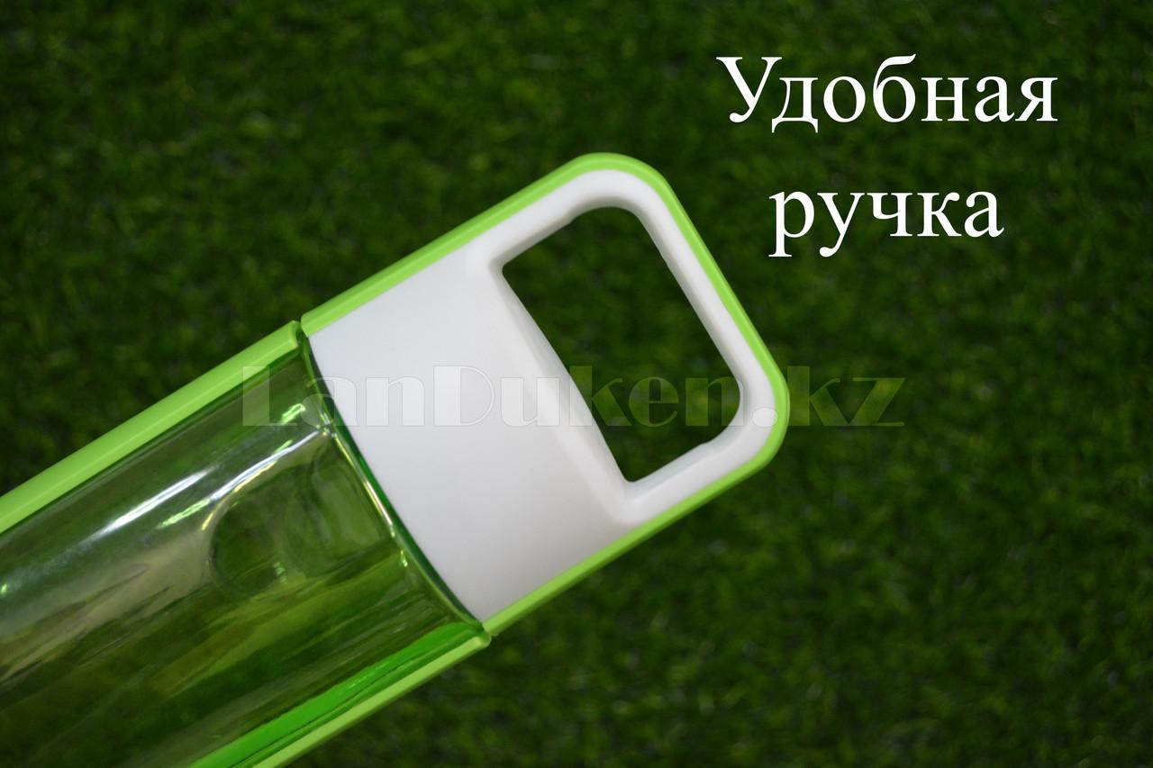 Бутылочка для воды ZANNUO 580 мл, емкость для воды зеленая - фото 5