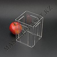Менюхолдер четырехсторонний А6, вертикальный. Тейбл-тент, подставка под меню, холдер из акрила