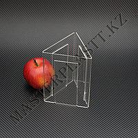 Менюхолдер трехсторонний А6, вертикальный. Тейбл-тент, подставка под меню, холдер из акрила