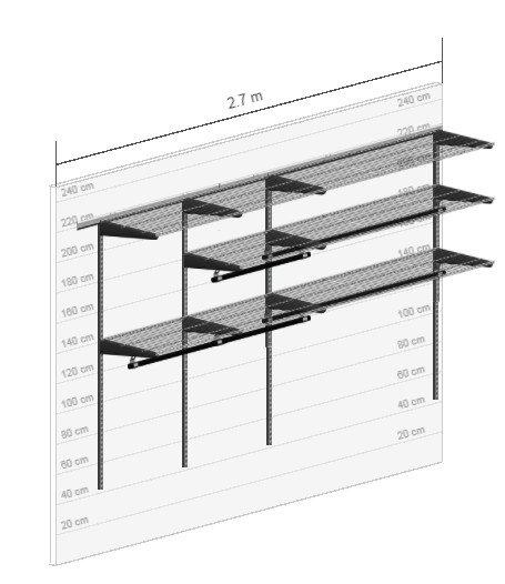 Установка гардеробной системы ЧЛ Асель 28