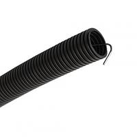 Труба гофр.ПНД d 25 с зондом (10 м) IEK черный, фото 1