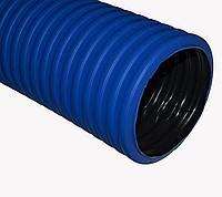 Труба гофр.двустенная ПНД/ПВД d40 синяя (50м), фото 1