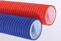 Труба гофр.двустенная ПНД/ПВД d110 синяя (50м), фото 1