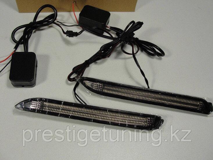 Задние LED вставки в бампер на Camry V50 2011-14 Дымчатые Type 2