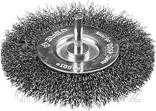 """ЗУБР """"ПРОФЕССИОНАЛ"""". Щетка дисковая для дрели, витая стальная проволока 0,3мм, 100мм, фото 2"""