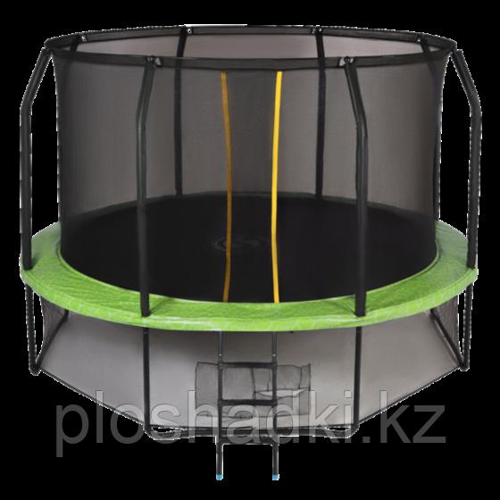 Батут Swollen Prime 14 FT с сеткой, верхним кольцом и лестницей