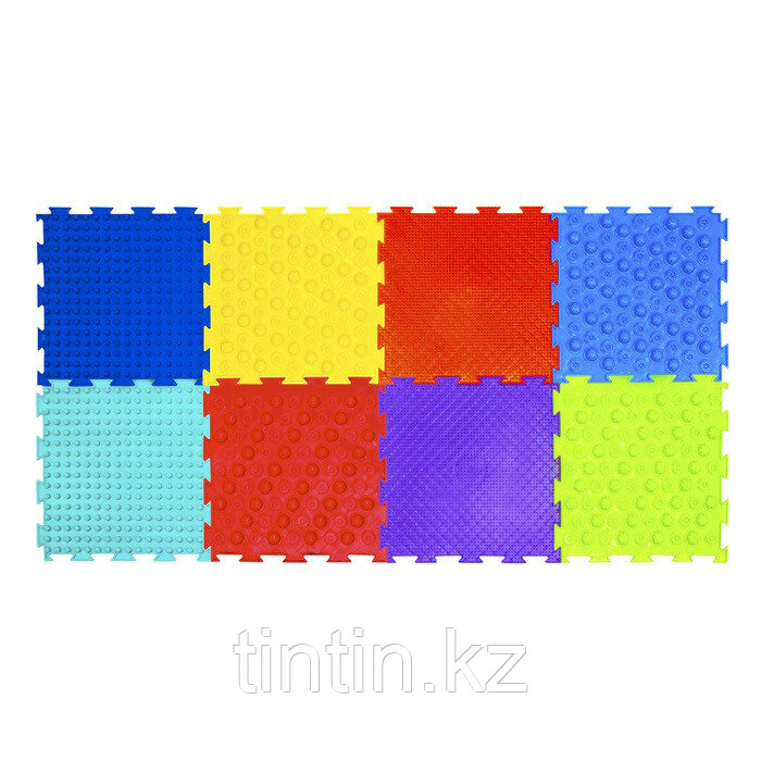 Детский массажный коврик «Ортодон», 8 модулей, набор «Бодрость» МИКС (от 3 лет)