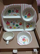 """Детский набор посуды из бамбука """"Сладости"""""""
