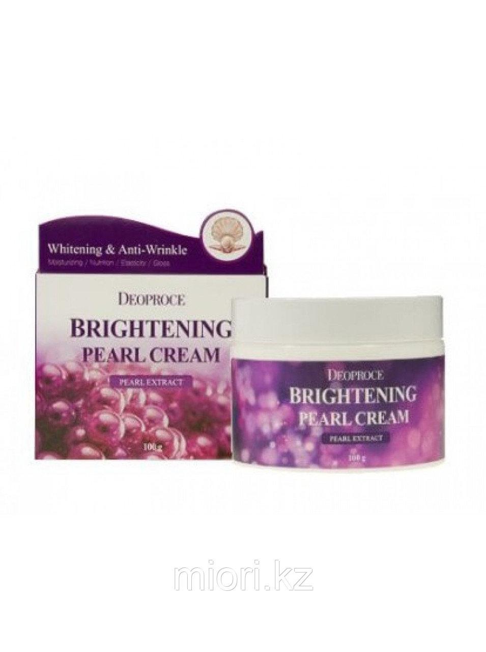 Brightening Pearl Cream [Deoproce]Увлажняющий крем с жемчугом для сияния кожи, 100гр