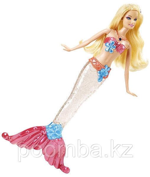 Кукла Барби-русалочка 'Блестящие огоньки' со светящимся хвостом