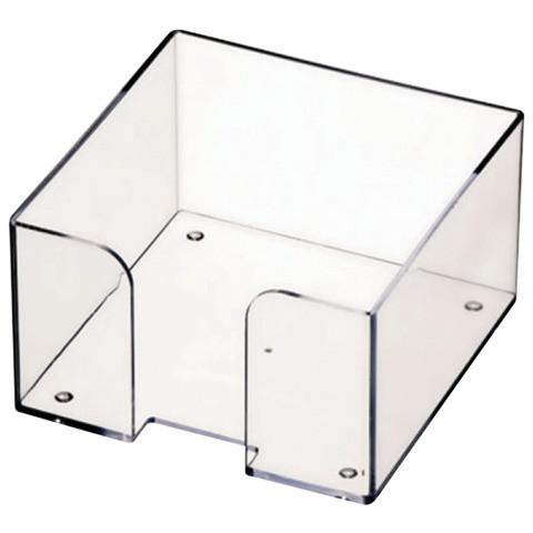 Пластбокс СТАММ прозрачный для бумажного блока 9х9х5 см