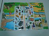 """Игра с волшебными наклейками """"Зоопарк"""" (2 поля с наклейками), фото 2"""